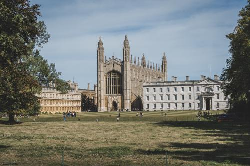 King's college Cambridge viewed from the backs